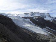 il ghiacciaio  visto dal bivacco Money