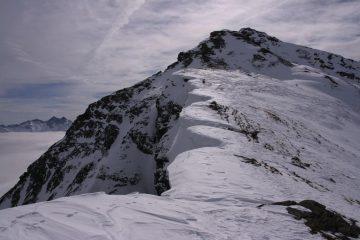 la bella cresta che porta in vetta allo Zerbion (17-2-2007)
