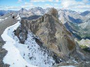 cornici nevose presso la cima