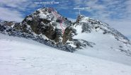 anticima e Cima di Entrelor, dalla parte alta della cresta NE (26-9-2010)