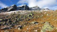 il pianoro erboso a quota 2550 m. nel Vallone di Meyes (26-9-2010)