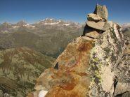 panorama verso il grampa dal monte bessun