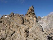 cengia della cresta oltre la cima