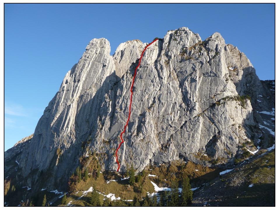 Bockmattli Fohrenturm Nordwand Via Riffel-Schnyder 2010-10-04