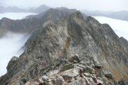 la cresta vista dalla cima