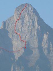 parete sud dello Zuestoll, tracciato della Neue Sudwand