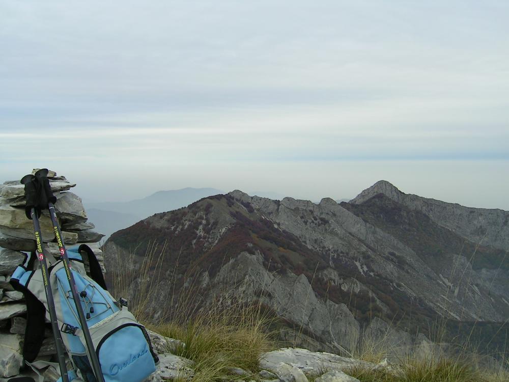 Vista verso il Saben dalla cima