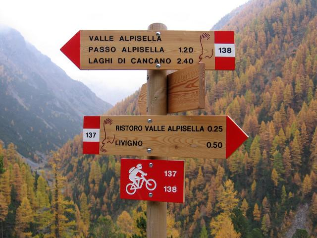 Indicazioni per il Passo Alpisella