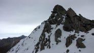 ultimo spuntone roccioso prima della cima (16-10-2010)