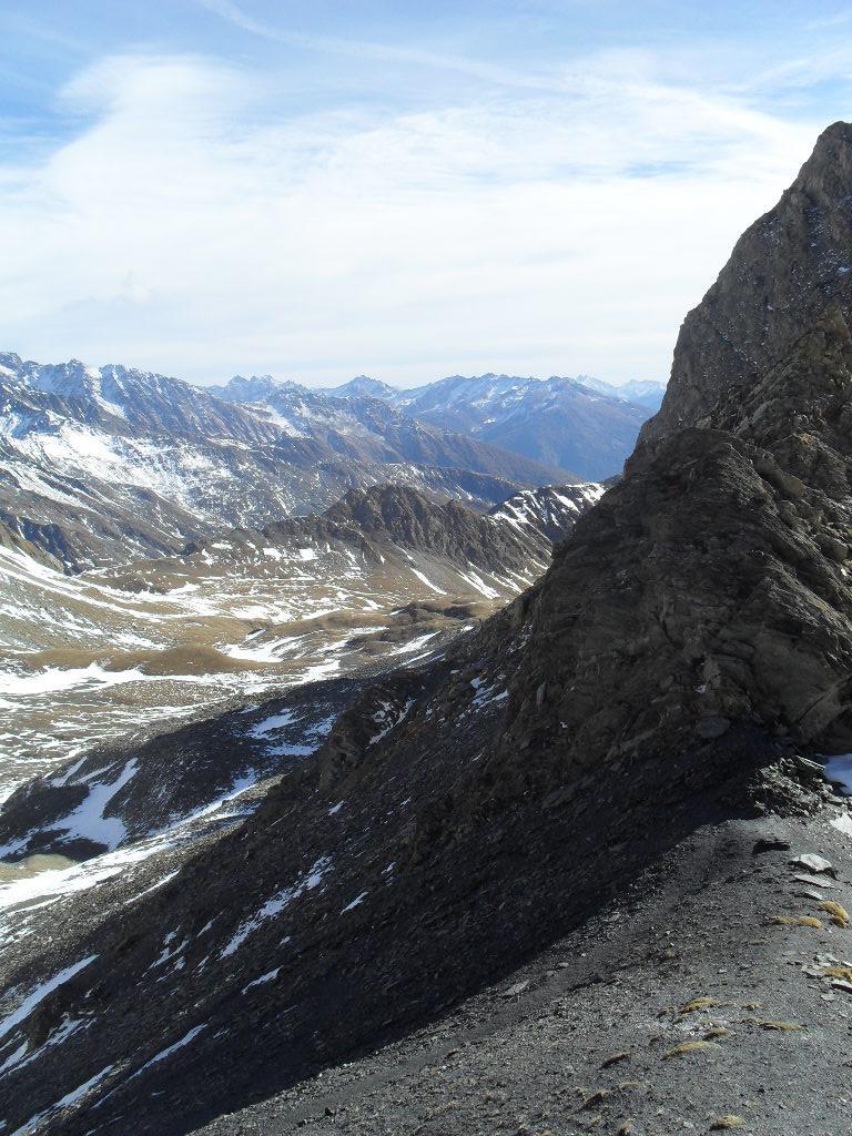 panorama dal colle verso il vallone del s. Bernardo