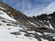 qualche traverso in neve prima del colle,ormai vicino