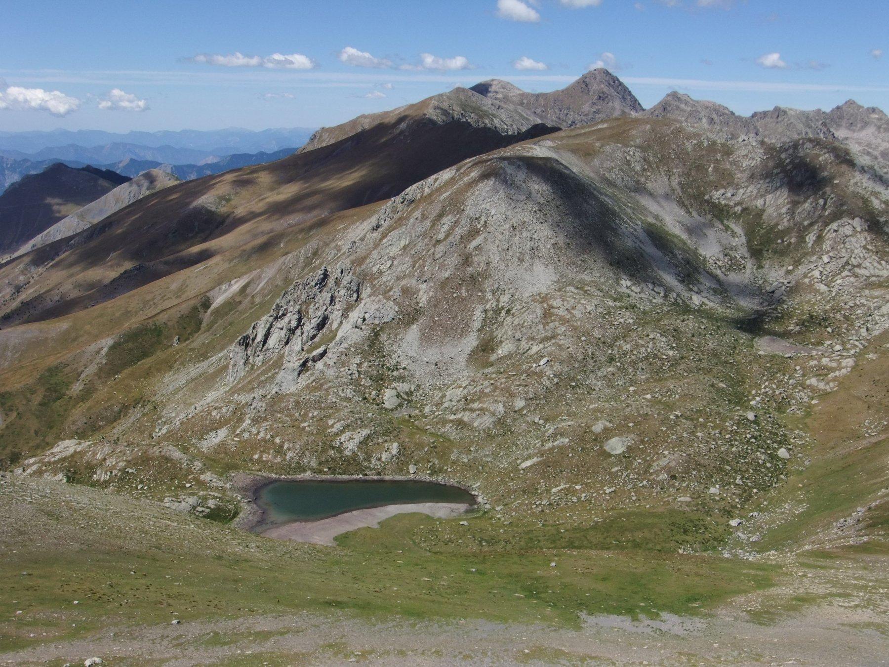 Il Lac Jugale dal pendio della Pointe Corne de Bouc