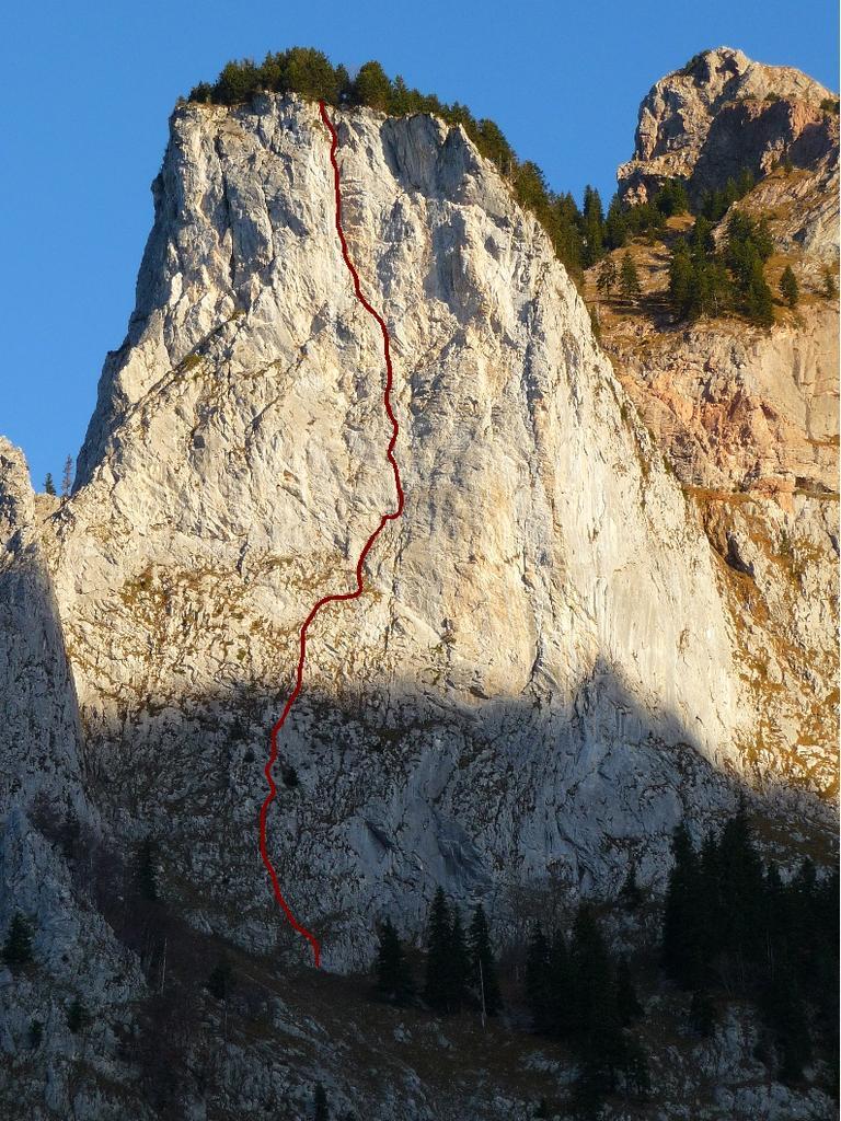 Grosser Mythen - Geisstock 1613 m Parete SE via Gruter-Anderruthi 2010-11-05