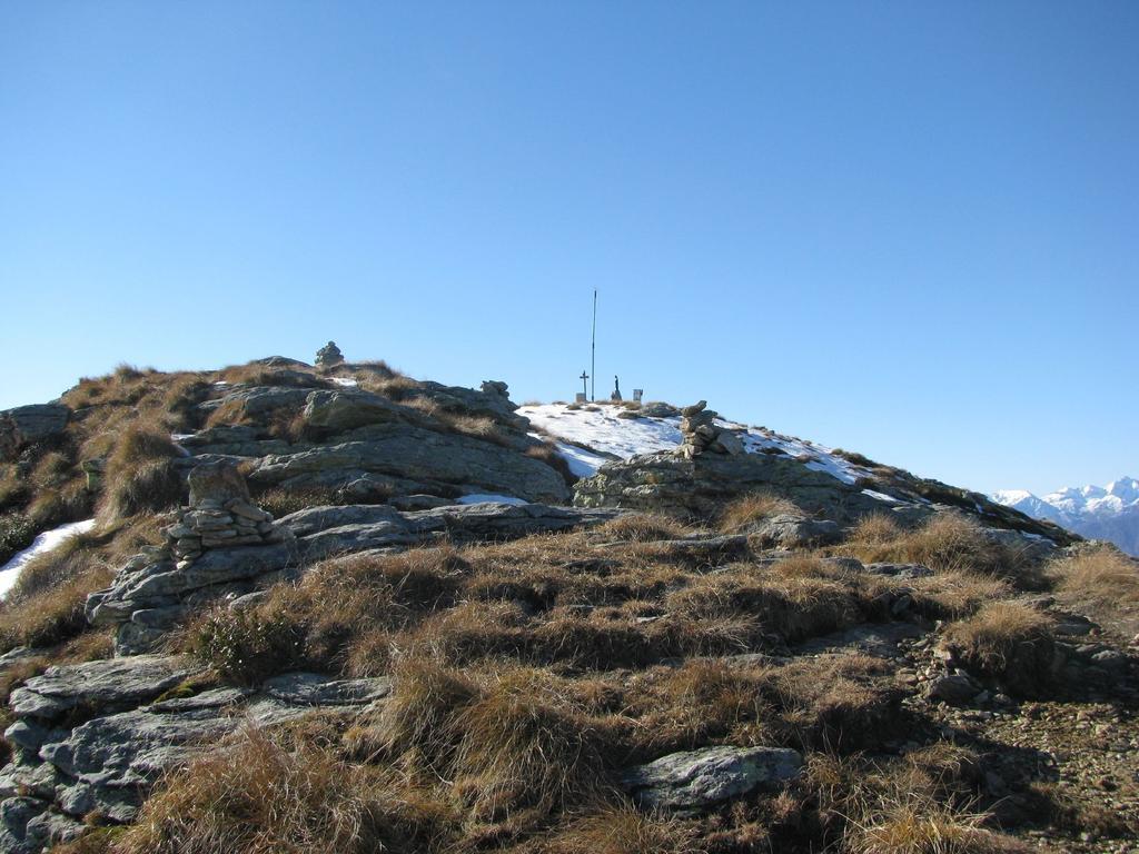 Arrivo alla cima del Monte Soglio