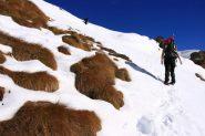 sul pendio del versante Sud della Palasina...tra neve e erba (6-11-2010)