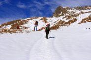 salendo nella parte alta del Vallone Palasina (6-11-2010)