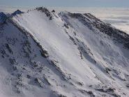 Salza, le due cime dopo la disceesa viste dal Mongioia