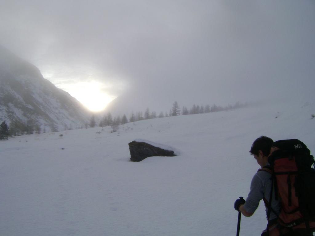 nel fondovalle, alba sul Col di Thures