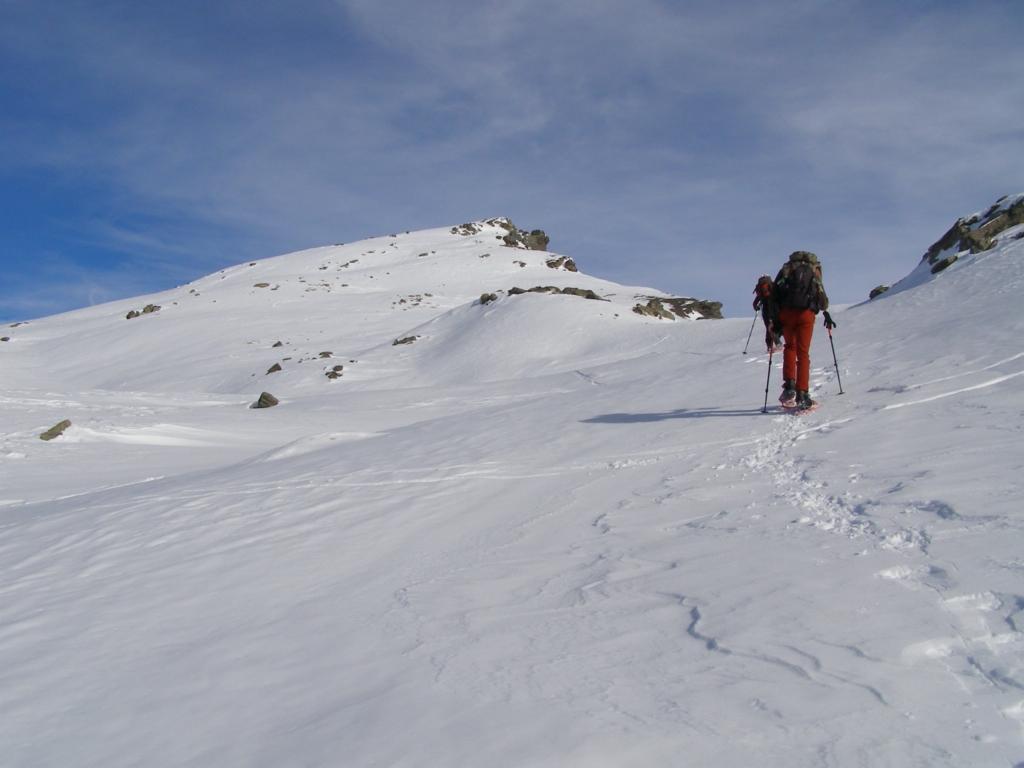 Pelvo (Il) o Pic de Caramantran da Chianale per il Colle di Saint Veran e la cresta SO 2010-11-15