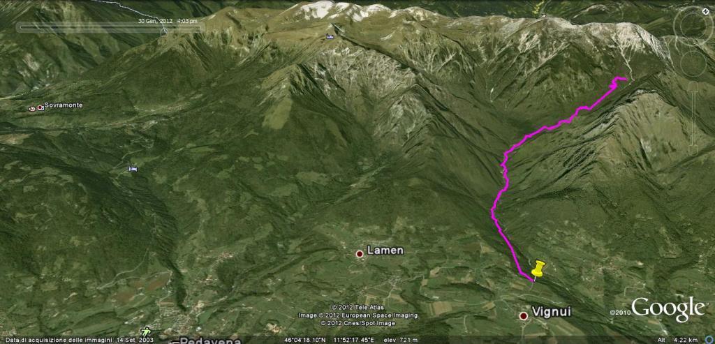sentiero ramezza(cai 803)