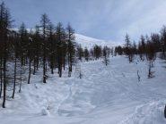 Il tratto con neve migliore (e infatti si vede)