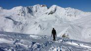 Davide arriva in cima al Monte Gorfi