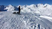 l'ampia vetta del Monte Gorfi