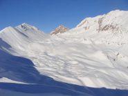 l'itinerario ed il colle visto dal colle de l'Alpet