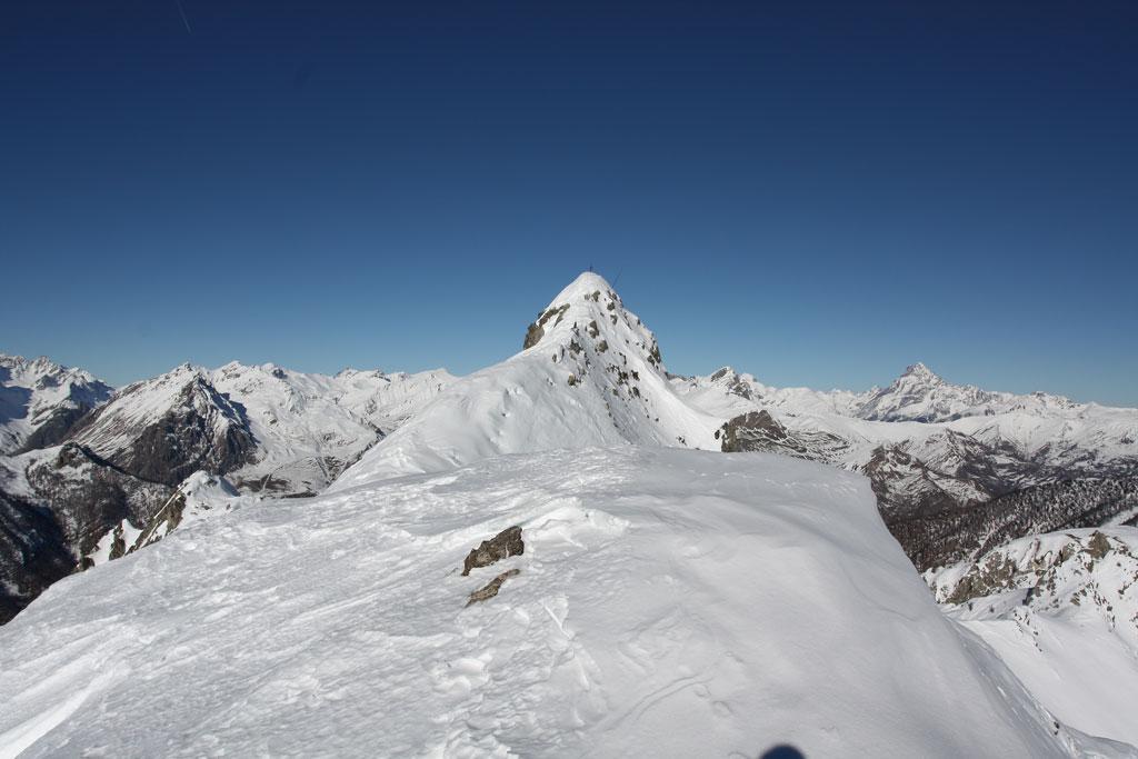 La cima del Boscasso dalla vetta finale