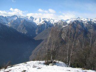 Le montagne di Camporcher viste dalla Tête-de-Cou