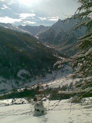 ...sguardo verso la Val Troncea...