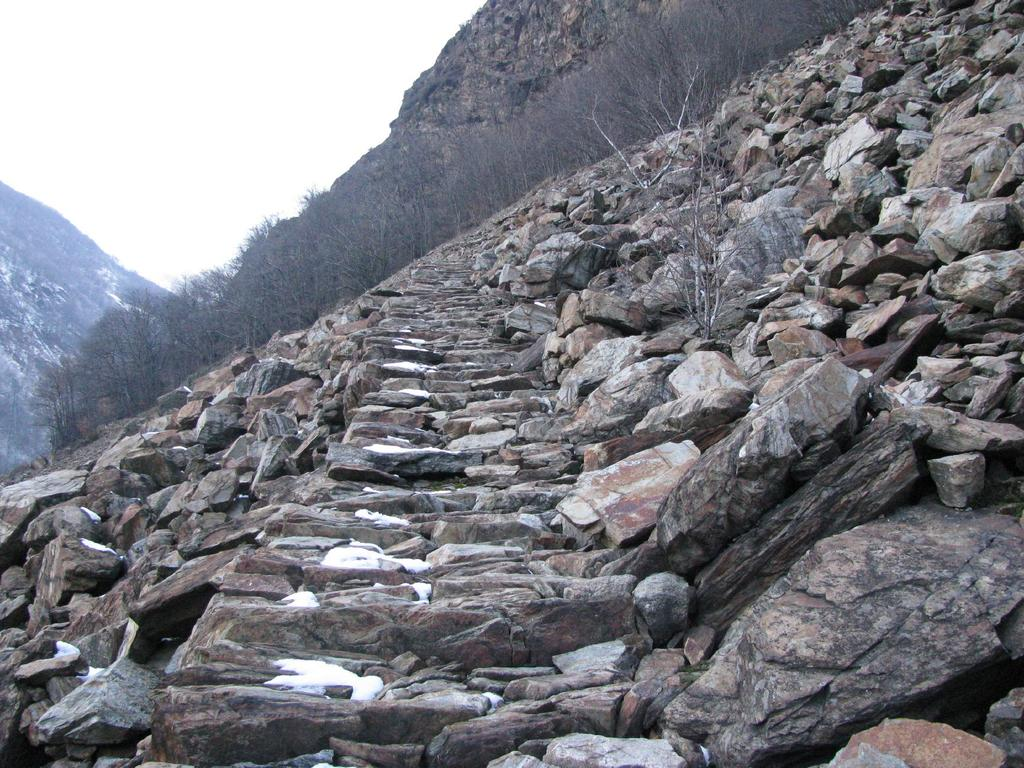 Il sentiero che sale a Fracchiamo