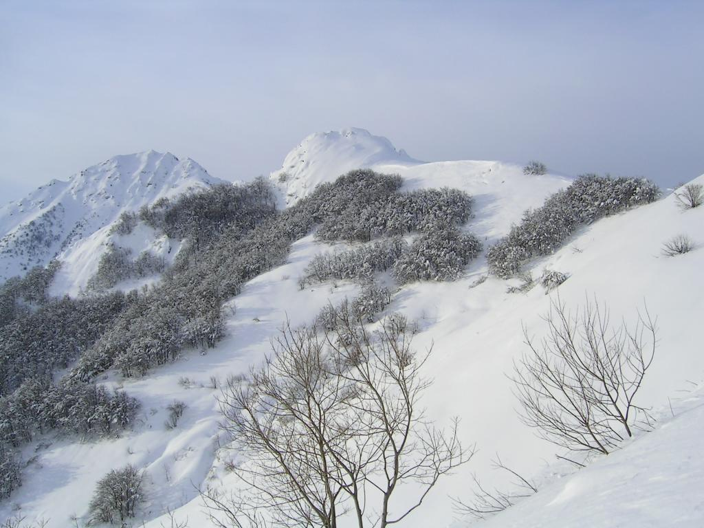 Salendo al Colle Arpiola, vista verso Bric Castea e Bec Baral