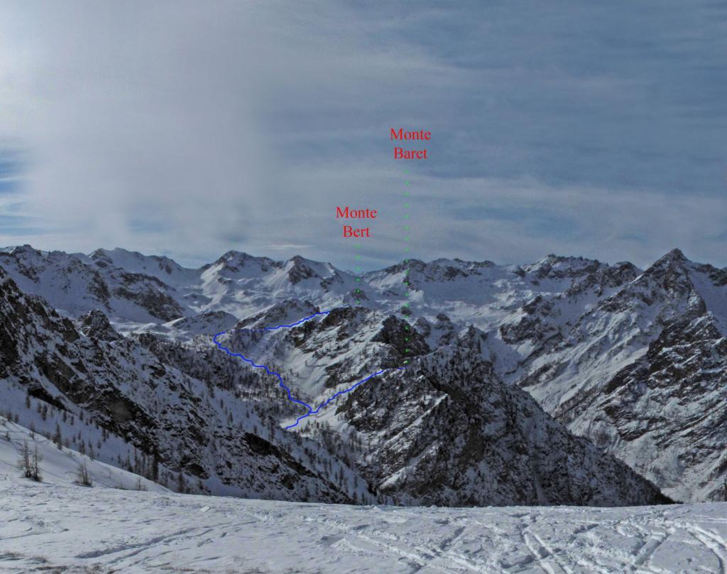 I Monti Bert e Baret, visti dal Giobert