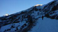 attraversando un avvallamento a quota 1700 m. (1-1-2011)