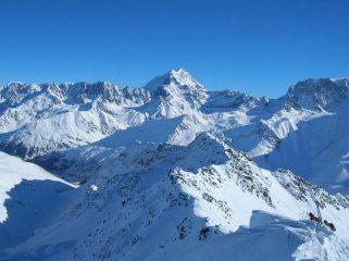 Veduta dalla vetta del Mon Telliers verso Gran Combin e Velan