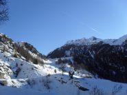 in vista della Chiesetta degli Alpini