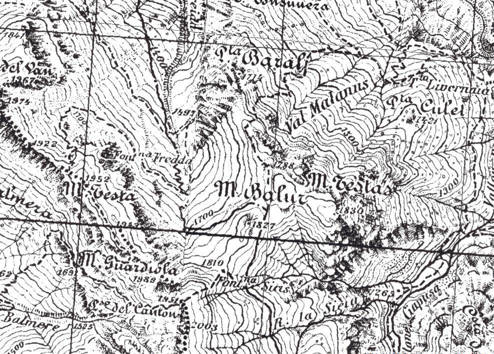 mappa IGM della zona