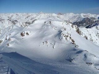 la vetta scialpinistica dalla vetta 2760
