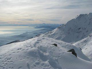 Dalla cima , vista  verso il Monviso