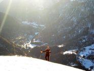 in cima alla Punta Chalet