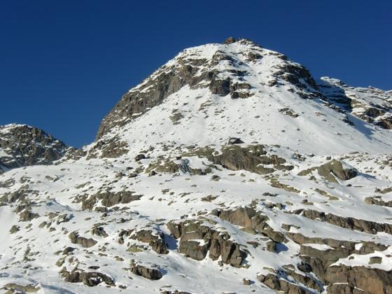Monte Morion veduta d'insieme dell'itinerario dall'Alpe Invers