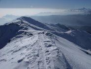 Sguardo dalla cima verso la Valle di Susa