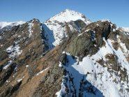 La continuazione della cresta verso il Barone parzialmente percorsa nel 2006