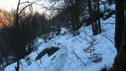 Imbocco sentiero verso l'Arponetto