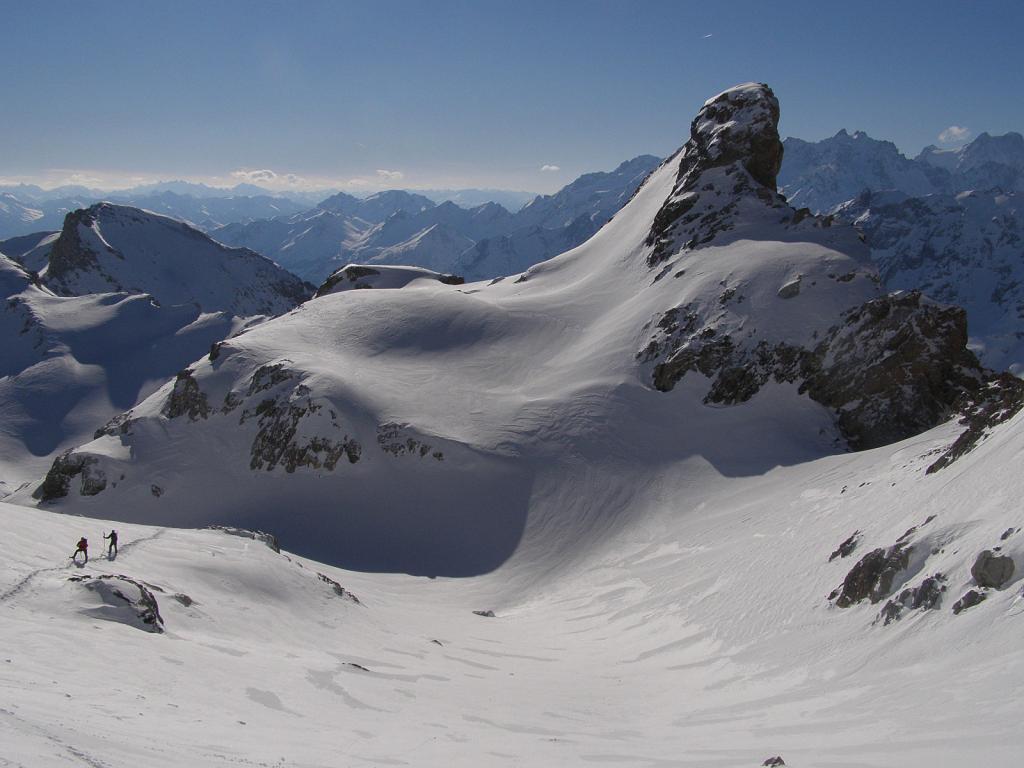 Grand Galibier (Le), cima Ovest dal Col du Lautaret per il couloir du Faux Col Termier 2011-01-22