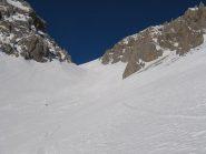 Seconda rampa illuminata dal sole, ma con neve ancora dura