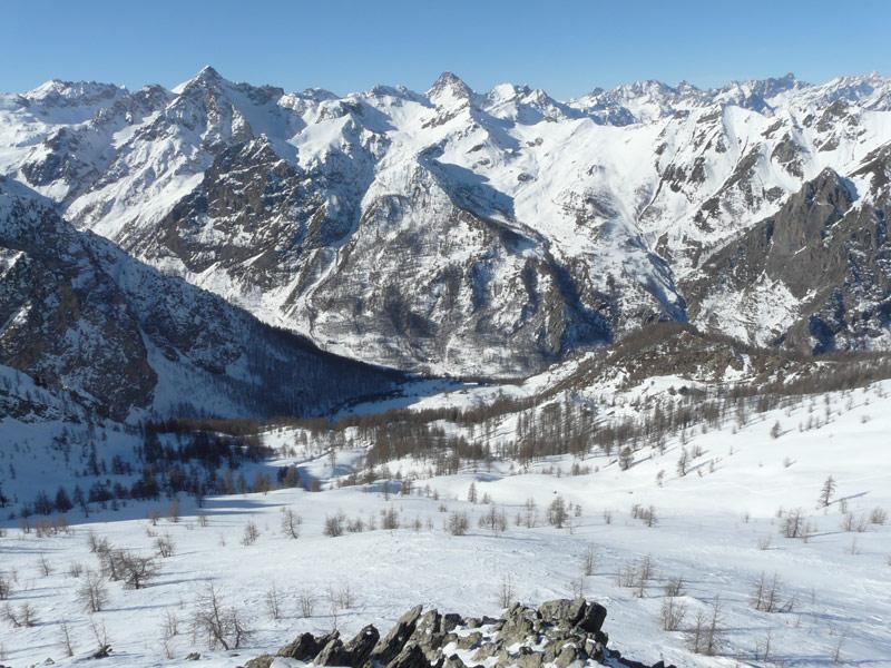 vallone di salita visto dalla cima sud