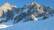 La nord dei Pellerin vista dall'invernale del Plan