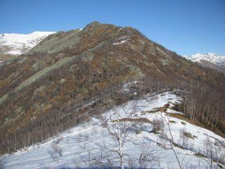 La cresta di salita alla Rocca Perabianca